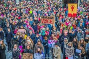 1 Участники «женского марша» в Осло Норвегия